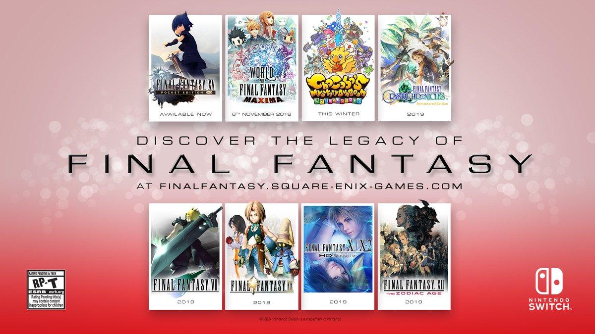 Final Fantasy Dan Masih Banyak Lagi Ke Nintendo Switch