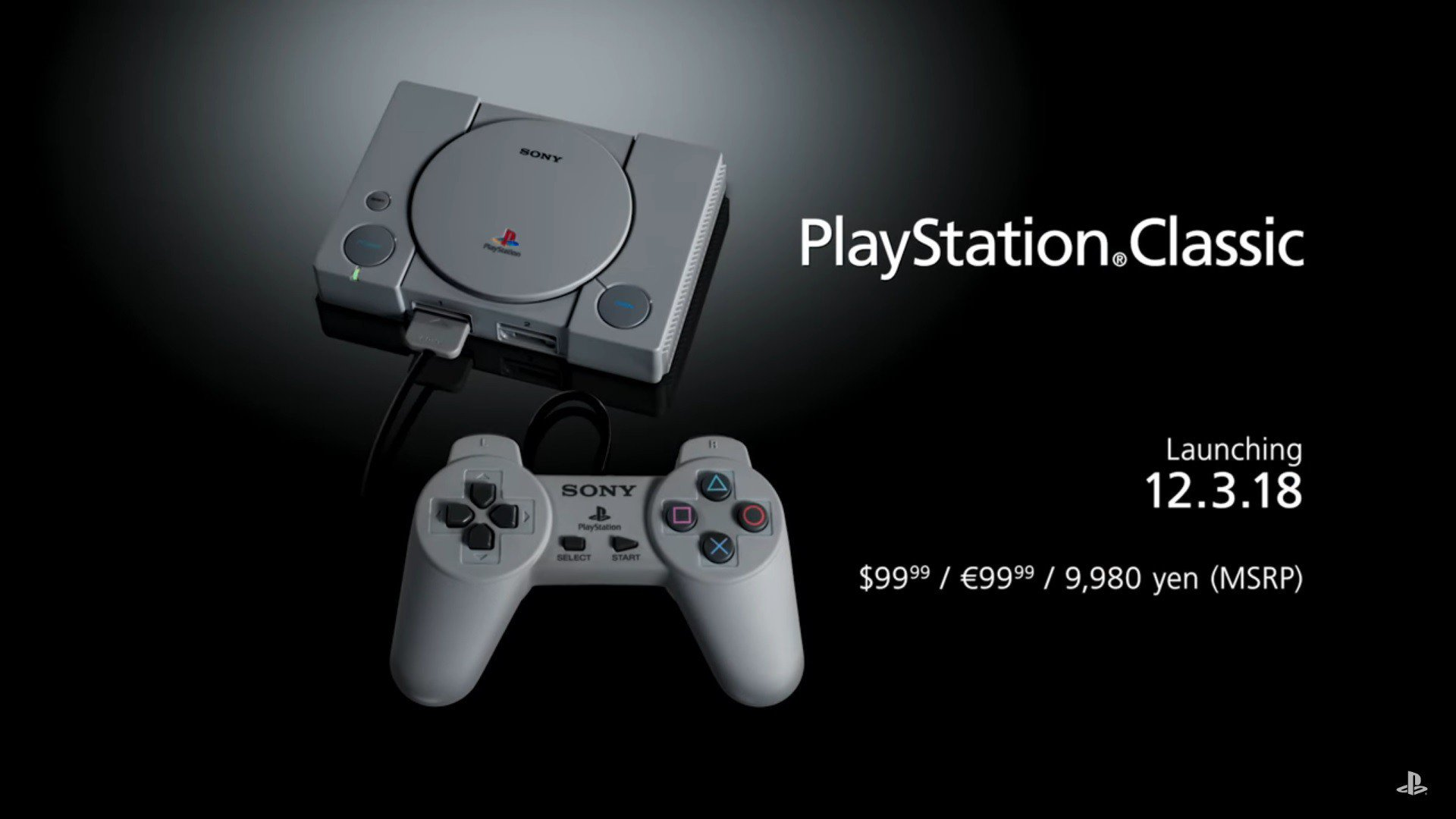 Sony Umumkan PlayStation Classic Memfiturkan 20 Pre-Loaded Games
