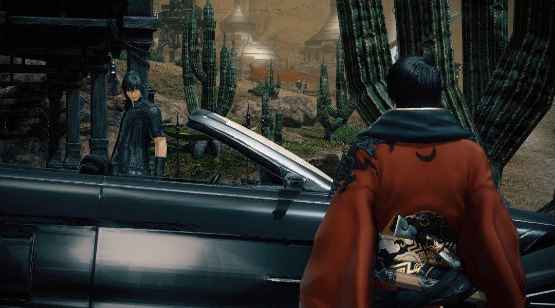 Noctis Dari Final Fantasy 15 Dan Regalianya Bergabung Di Final Fantasy 14